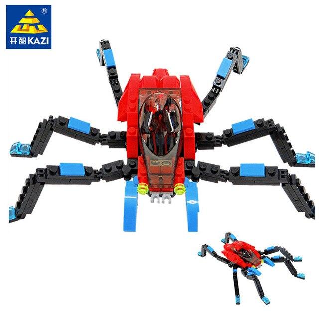 126 Pcs Super Heroes Spiderman Rastejando Veículo Modelo Figuras Brinquedos Educativos Para Crianças Blocos de Construção DIY Criador