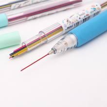 Crayon mécanique de couleur, 15, pièces/boîte, 0.5, 0.7mm, pour croquis, dessin, fournitures scolaires et de bureau