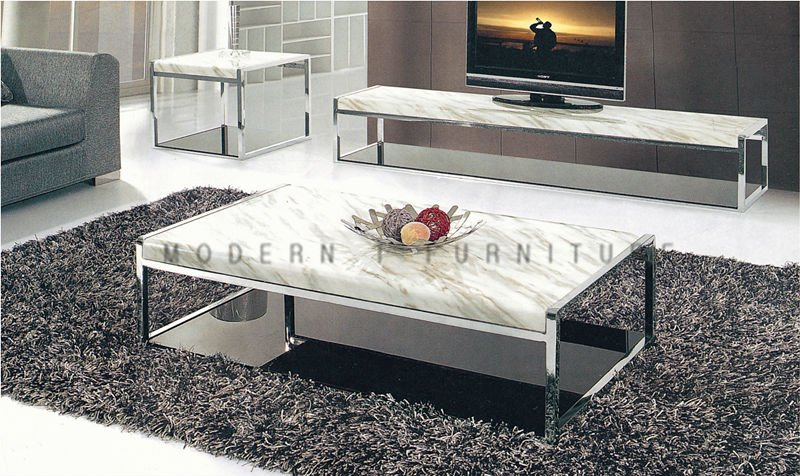 Metal living room furniture stainless frame coffee table - Corner tables for living room online ...