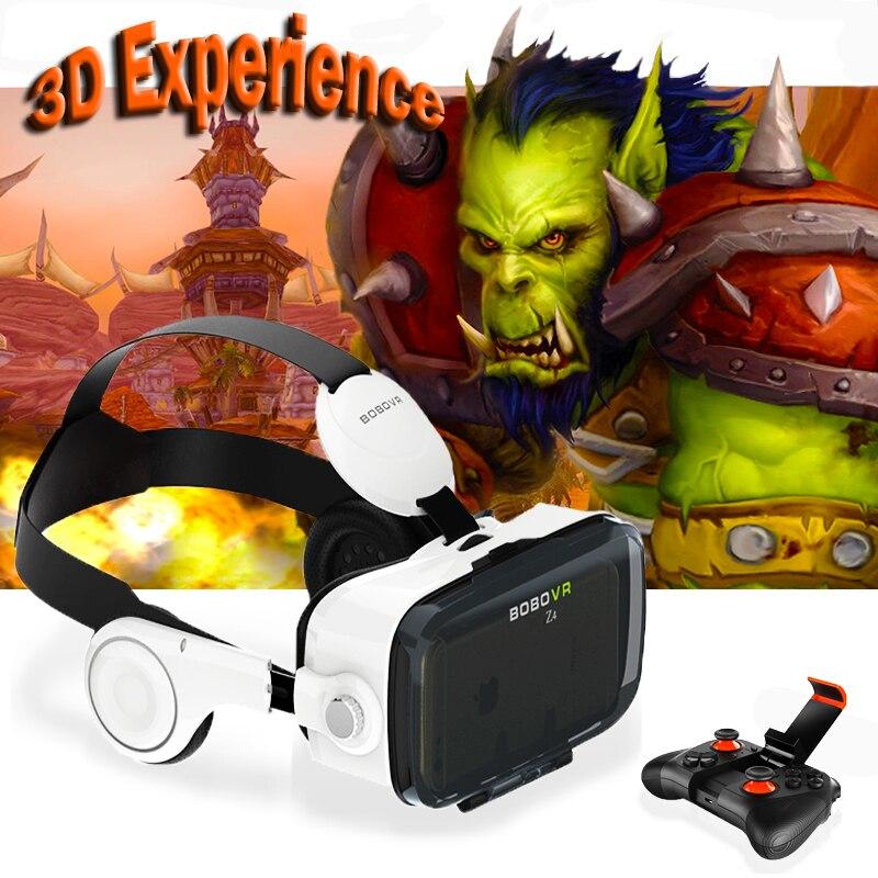 hot!<font><b>2016</b></font> <font><b>Newest</b></font> Original BOBOVR Z4 3D <font><b>Glasses</b></font> <font><b>VR</b></font> <font><b>Virtual</b></font> <font><b>Reality</b></font> Headset 3D Video Game Private Theater with Headphone+Controller