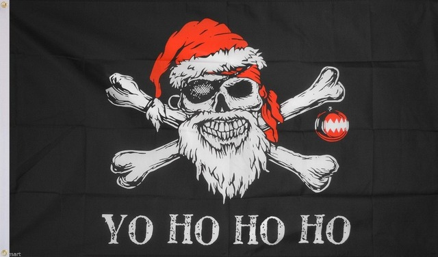 pirate flag 3x5 ft custom jolly roger christmas banner 90x150cm fp20