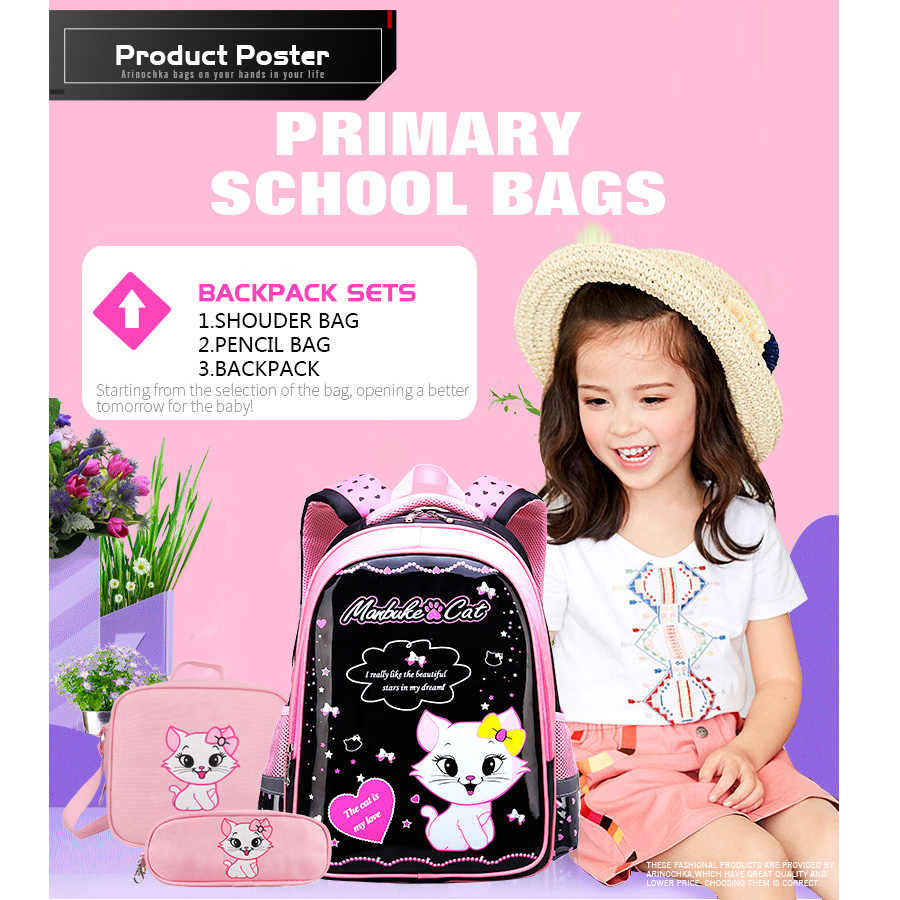 2019 дети милый кот рюкзак обувь для девочек PU школьный рюкзак Детский сад Дети жесткий в виде ракушки книга рюкзаки Mochila Infantil