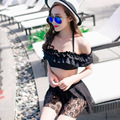 2016bikini East Gate Korean small chest flouncing letter female split hot sexy bikinis swimsuits