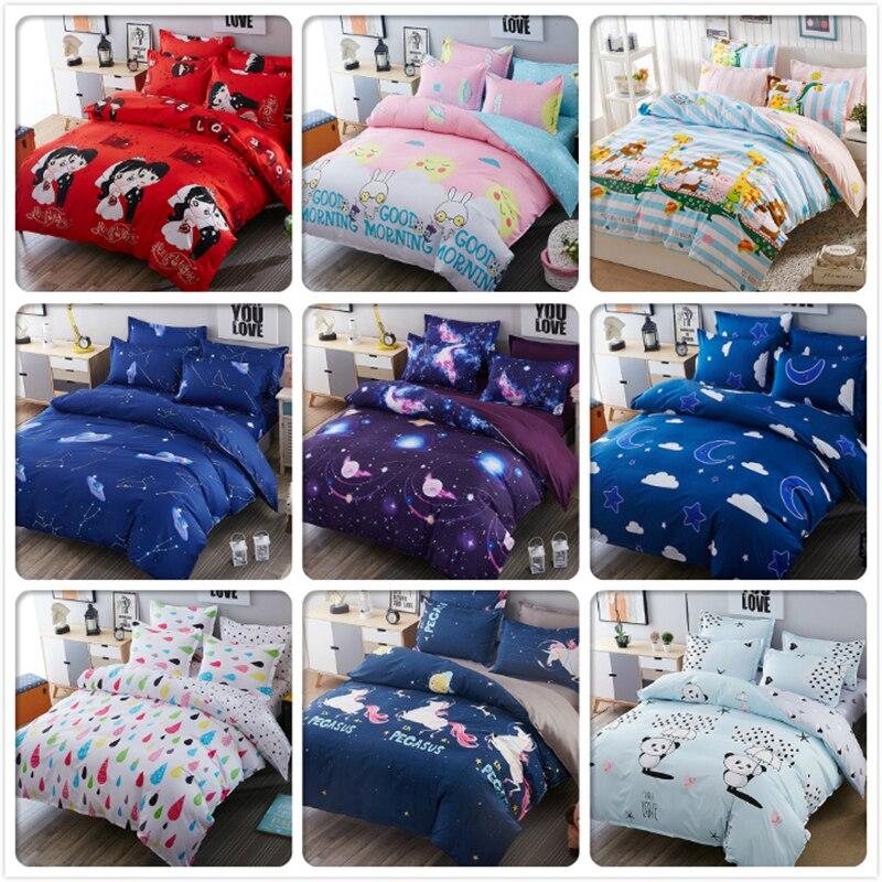 New Bed Linen 3/4 pcs Bedding Set Couple Kids Bedlinen Full King Queen Double Size Duvet Cover 1.5m 1.8m 2m 2.2m Bedsheet Cotton