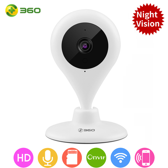 360 Wifi IP Camera 720P Night Wireless Smart Mini Home Camera Vision 2-Way Audio Webcam Video Monitor [International Edition]