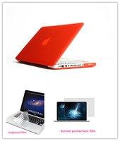 3 In 1 Matte Case Voor macbook Pro/Pro Retina 13.3 inch laptop Case zonder logo + Toetsenbord Cover + Screen Protector Gratis Verzending