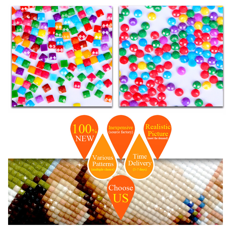 Diy painting Diamond Ornaments interior mosaic square Diamond drill Full Beautiful beads Embroidery kit Dream castle in Diamond Painting Cross Stitch from Home Garden