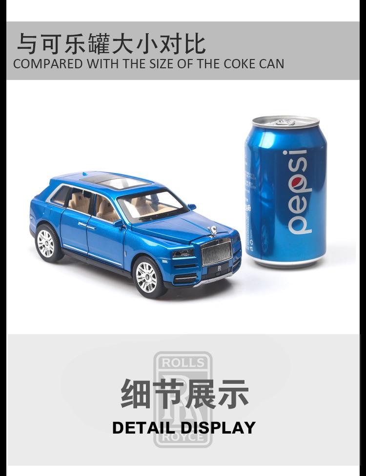 Rolls Royces Cullinan SUV Model Car with Metal Wheels, Sound & Lights 16