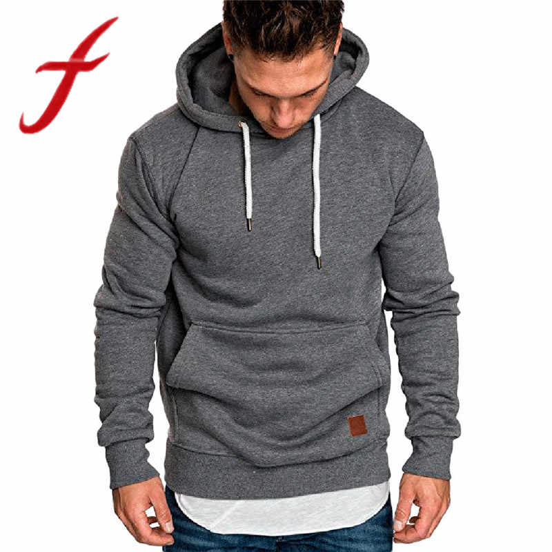 Feitong Winter Warme Mens Hoodies Sweatshirts Solide Kausal Langarm Sweatshirt Hoodies Tops verkaufs-trainingsanzug sudaderas para hombre