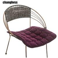 40 40 Cm 45 45 Cm Chair Seat Cushion Home Decor Soft Velvet Seat Cushion For