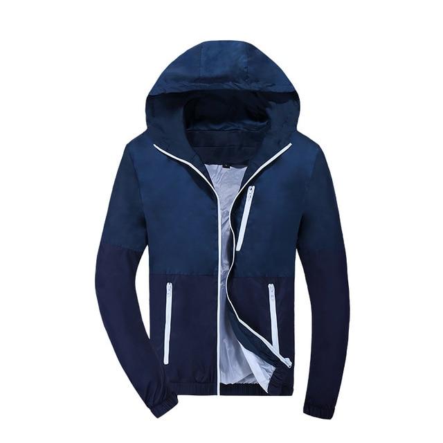 2021 Spring Autumn Fashion Jacket Men's Hooded Casual Jackets Jacket Men WindbreakerMale Coat Thin Men Coat Outwear Couple 3