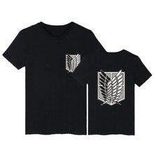 Футболка с принтом «атака на Титанов», топы, футболки размера плюс, летние топы, мужские футболки с коротким рукавом, одежда в уличном стиле с принтом из мультфильмов, футболка, одежда для мальчиков