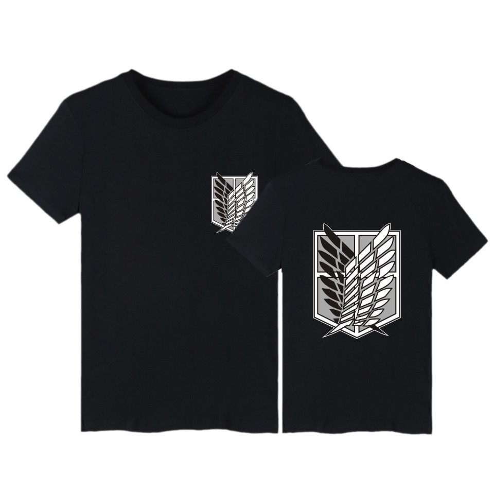 Attack on Titan   t     shirt   anime plus size tops tees summer tops mens short sleeve tshirt cartoon streetwear   t  -  shirt   boys clothes