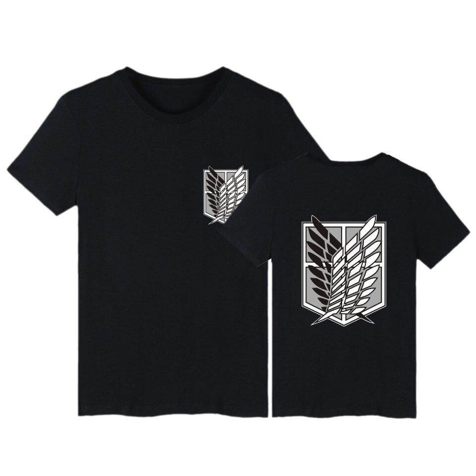 Attaque sur Titan t-shirt anime grande taille hauts t-shirts d'été hauts hommes à manches courtes t-shirt cartoon streetwear t-shirt garçons vêtements