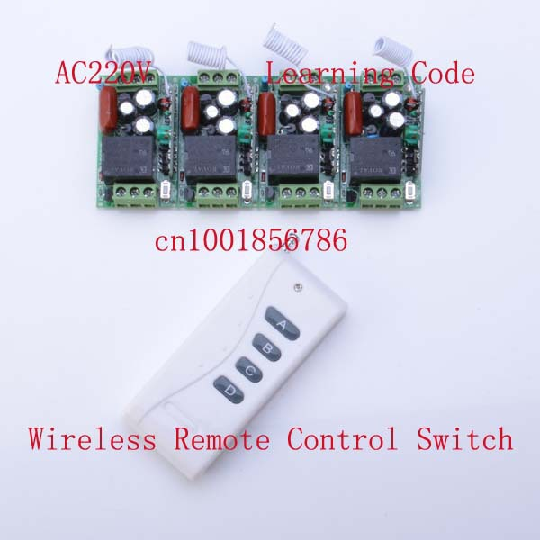 220V 10A 4CH led <font><b>lights</b></font> for home automation wireless rf remote control <font><b>outdoor</b></font> switch 1 gang <font><b>light</b></font> switch