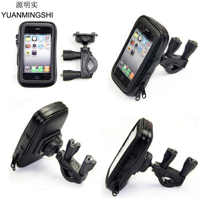 YUANMINGSHI Universal Waterproof Bag with Motorcycle Phone Holder With Waterproof Case Mobile Phone Holder for Smartphone