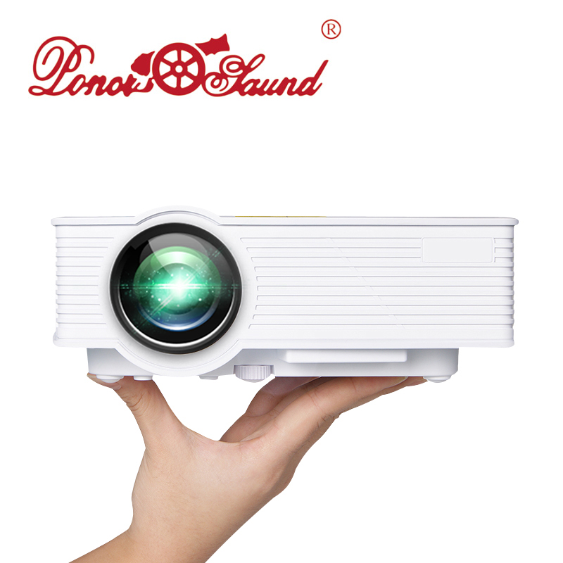 Poner Saund GP9 Mini LED Projector Wired Sync Display Home Theater Android WIFI Full HD 1080p HDMI/USB/SD/AV Portable Proyector