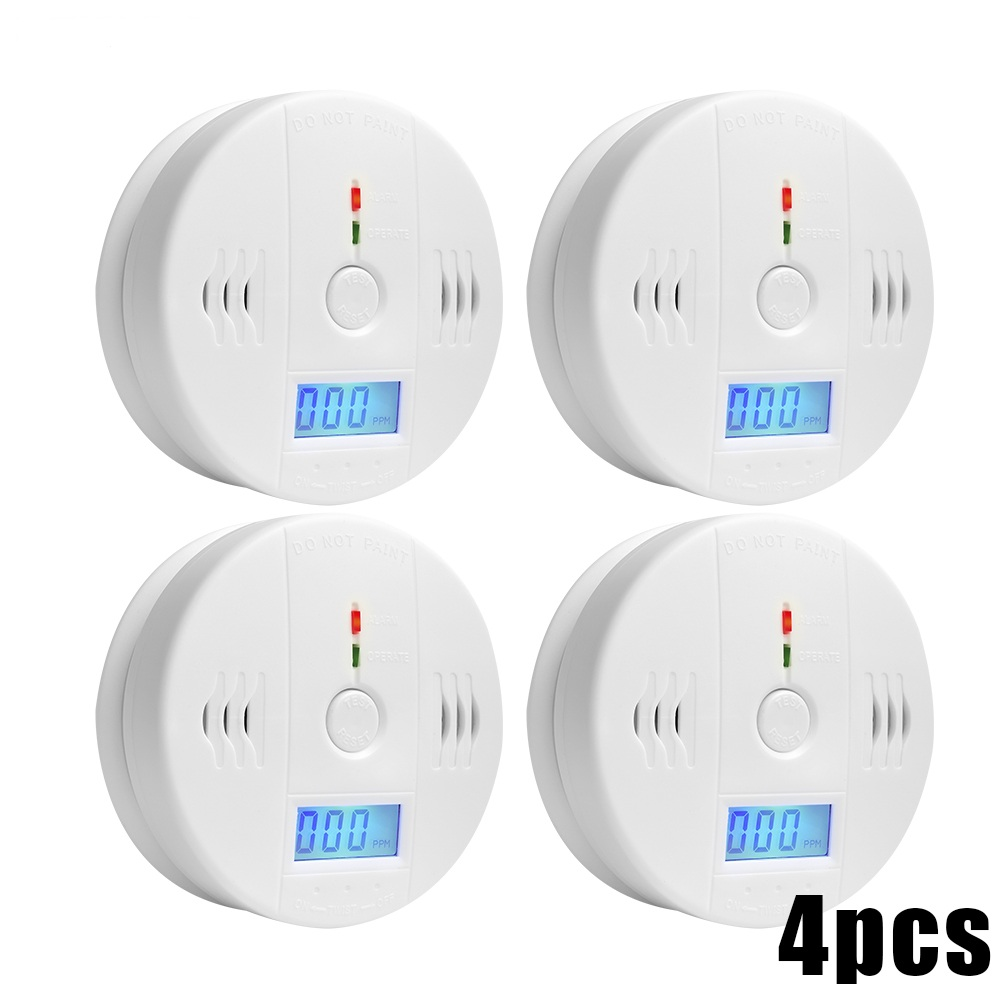 85dB Warning High Sensitive LCD Photoelectric Independent CO Detector Sensor Carbon Monoxide Poisoning Alarm Detector For home