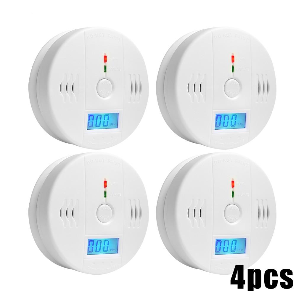85dB Warning High Sensitive LCD Photoelectric Independent CO Detector Sensor Carbon Monoxide Poisoning Alarm Detector For home