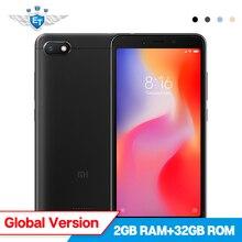 Küresel Sürüm Xiaomi Redmi 6A 2 GB 32 GB Cep Telefonu 5.45 ''Tam Ekran 12nm Helio A22 Dört Çekirdekli 13MP 5MP Kamera 3000 mAh C...