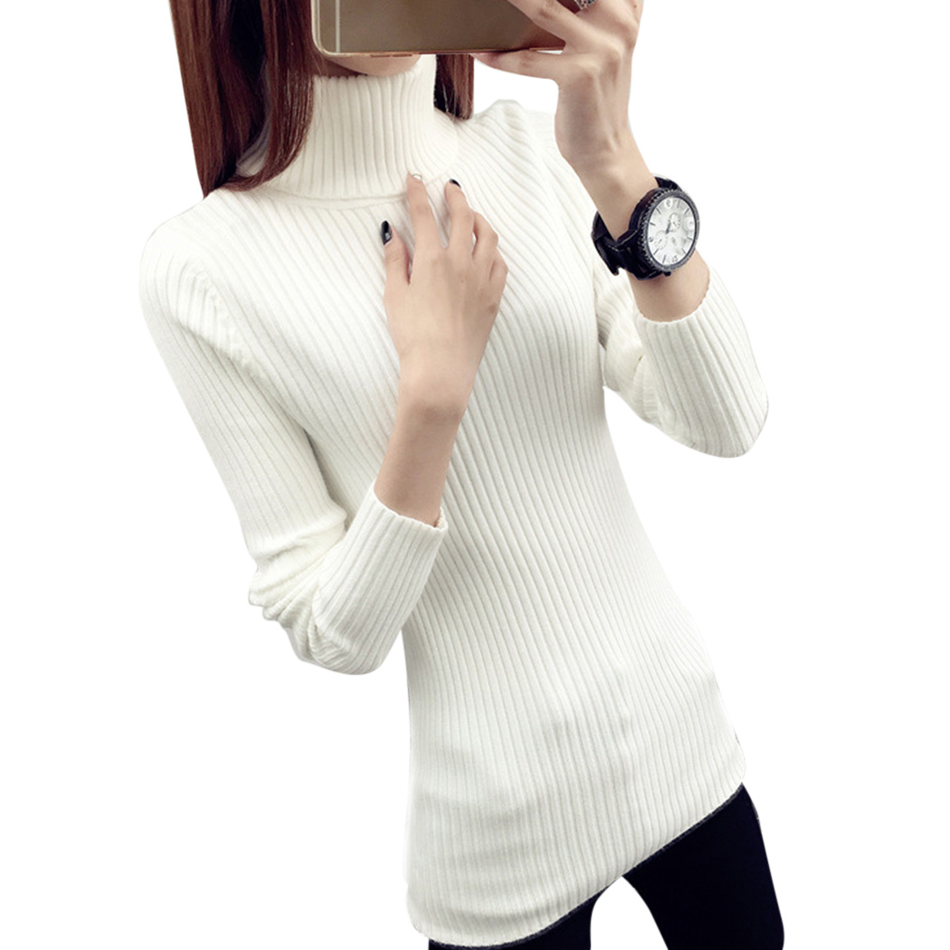 Buy 2018 Autumn Winter Turtleneck Sweater Women Knitted Warm Pullover Tops Korean Female Elastic Slim Fit Sweaters Jumper Knitwear for $17.80 in AliExpress store
