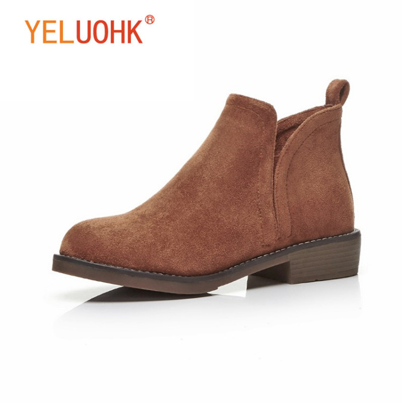 33-43 Ankle Boots For Women Plush Warm Women Winter Boots Heel Women Boots Winter Shoes Big Size