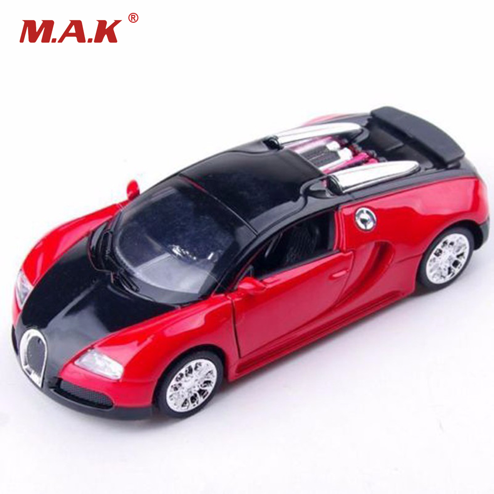 1:36 Scale Bugatti Veyron Diecast Car Model With Sound&Light Collection Car Toys for Boys Gifts Collections Displays ...