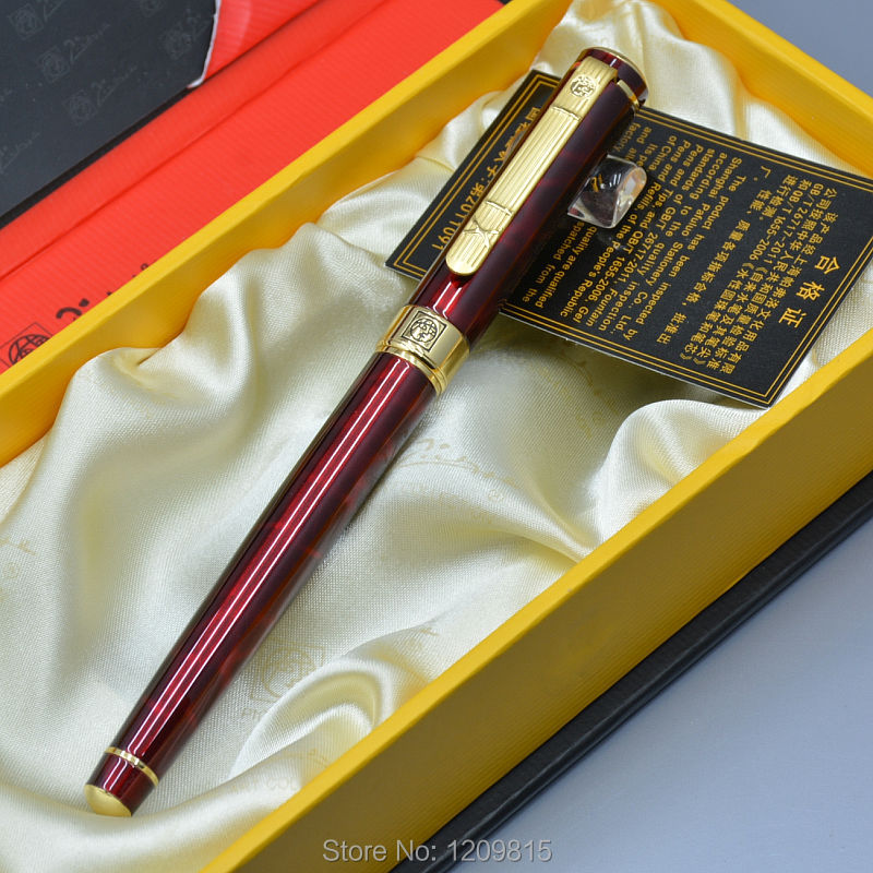 Unique design Picasso brand Wine red fountain pen with Gold clip school office stationery luxury writing gift ink pens jinhao fountain pen unique design high quality dragon pens luxury business gift school office supplies send father friend 002