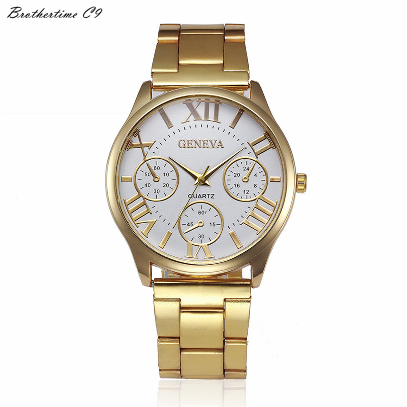 Relogio Feminino Fashion Women Dress Watch Crystal Stainless Steel Analog Quartz WristWatch Bracelet Clock #-010