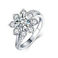 3 0 Carat Moissanite Ring Test Positive Round Brilliant Cut Lab Grown Diamond Solid 14K White