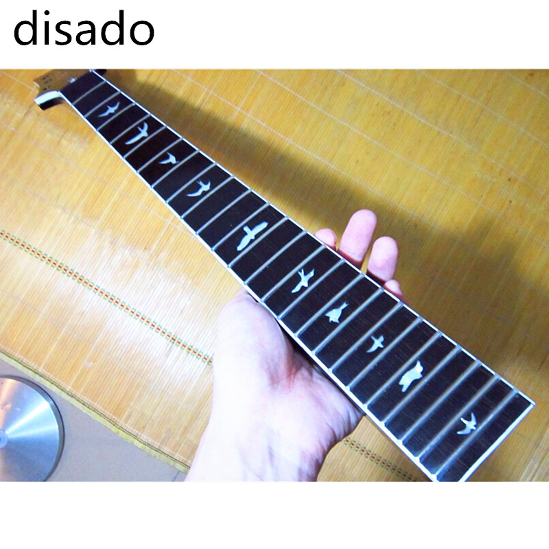 disado 24 Frets Maple inlay bird Electric Guitar Neck Rosewood fingerboard Guitar Parts Musical instruments accessories disado 21 frets tiger flame maple wood color electric guitar neck guitar accessories guitarra musical instruments parts