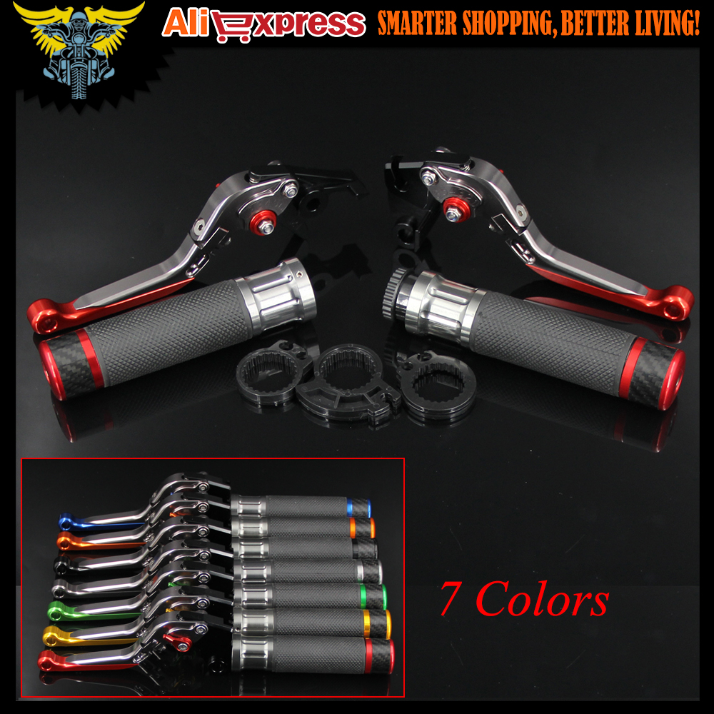 7 Colors CNC Motorcycle Brake Clutch Levers and Handlebar Hand Grips For Ducati STREETFIGHTER /S 848 MONSTER 1200 / S / R 22mm 7 8 motorcycle aluminum handlebar grips bar ends sliders for ducati monster 600 dark monster 620 monster 696 monster 750