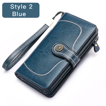 Vintage Style Split Leather Women's Wallet Bags and Wallets Hot Promotions New Arrivals Women's Wallets Color: Style 2 Blue Ships From: Russian Federation