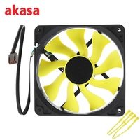 Akasa 12cm CPU Cooling Fan S FLOW Cooler Fan Blade Design High Performance 4Pin PWM Auto