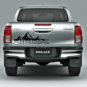 цена на Custom Car Sticker Fit For Toyota Hilux Revo Vigo Hilux Mountain Racing Door Tailgate Stripe Graphic Vinyl  Car Decals