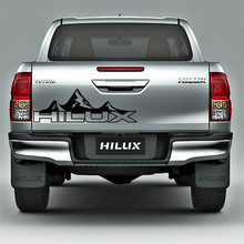 где купить free shipping 1 PC hilux  mountain racing door tailgate stripe graphic vinyl car sticker for toyota hilux revo vigo по лучшей цене