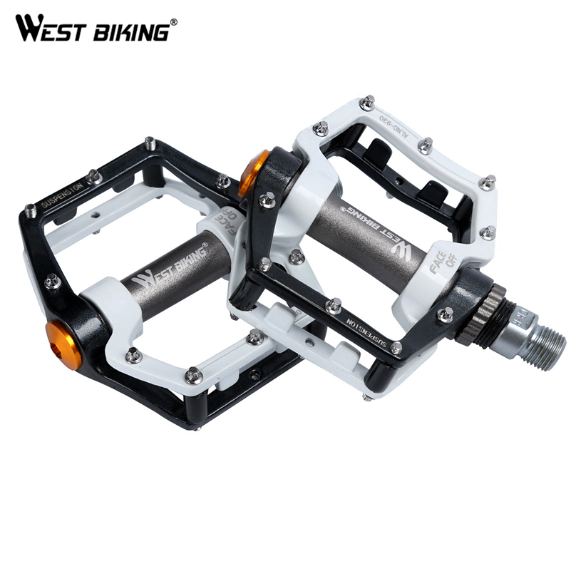 WEST BIKING Original US Brand Cycling Pedal Dead Fly BMX Light Bicycle Pedals 9/16 Foot Pegs Outdoor Sport DH 0.46Kg/pair Crank 2pcs bicycle plastic wheel pedals axle foot pegs