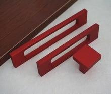 Red Drawer Pulls Handles Hollowed Modern Kitchen Cabinet Handles Knobs /  Dresser Handles Decorative Furniture Hardware