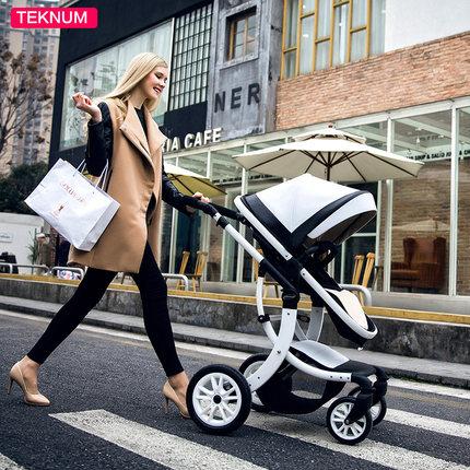 Teknum baby stroller can sit flat lying high landscape folding baby children four seasons universal neonatal cart