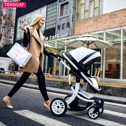 Teknum del bambino passeggino può sit sdraiato paesaggio di alta pieghevole del bambino i bambini di quattro stagioni universale neonatale carrello