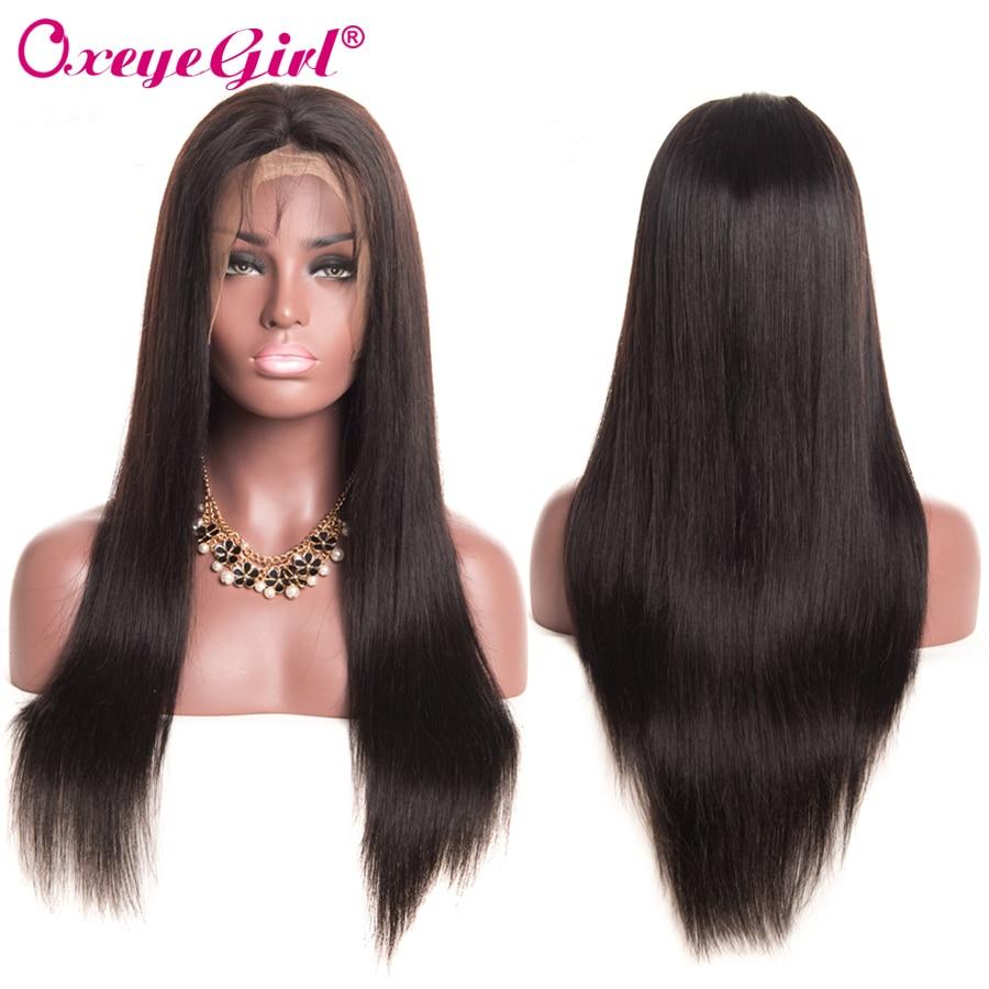 Straight Lace Front Wig Mänskliga Hårperor För Svarta Kvinnor - Mänskligt hår (svart) - Foto 3