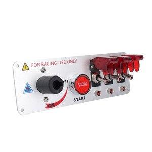 Панель переключателя зажигания 12 В, 5 в 1, кнопка запуска двигателя, светодиодный переключатель для соревновательных гонок и спорта