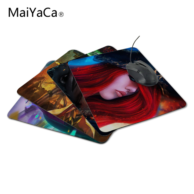 MaiYaCa miss fortune with red hair and a hat league of legends Mouse Pad Computer Gaming Mouse Pad Gamer Play Mats