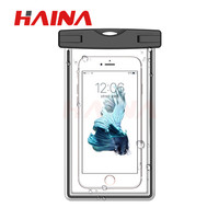 200pcs Luminous Waterproof Phone Bag Underwater transparent touchable pouch beach mobile phone Bag for iPhone samsung Huawei DHL