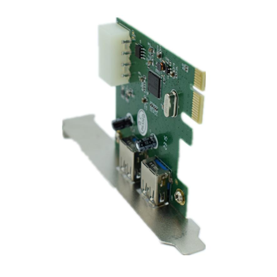 HIPERDEAL New 2-Port USB 3.0 Low Profile PCI-Express Host Controller Card 18Mar29 Dropshipping