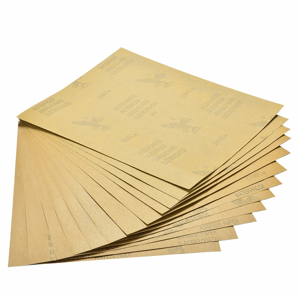1PCS Waterproof Sanding Paper Wet Dry Polishing Sandpaper Grit Granularity 1000#1200#1500#2000# Metal Wood Abrasive Tool 28x23cm