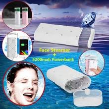 Luxury Nano Mini Facial Steamer Humidifier 5200mah Mobile Powerbank USB Rechargeable Face Mist Sprayer Beauty Tools