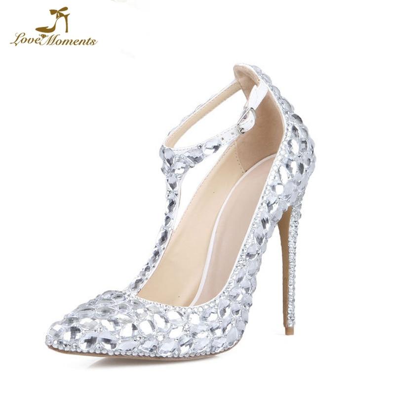 Wedding Silver Heels: 2019 New Designer Handmade Wedding Shoes Silver Crystal