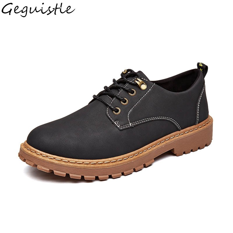 Men's Big Head Casual Shoes Men Hale Tooling Fashion Counter Attack PU Shoes Retro Martin Shoes hook ups counter attack