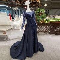 Modabelle Роскошные бисером Темно синие Вечерние платья одежда с длинным рукавом Прозрачная торжественное платье Для женщин Пром jurken красный